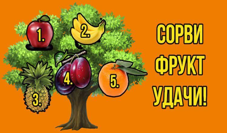 Сорвите один фрукт и узнайте, сбудется ли ваше желание