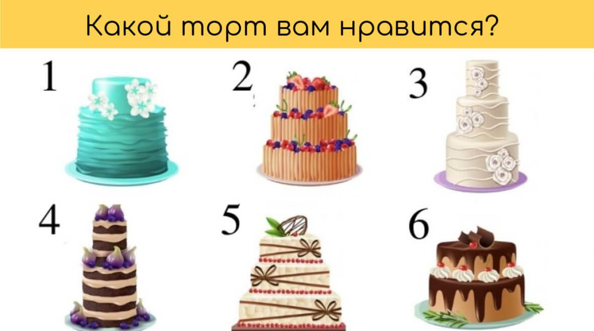 Выберите торт и узнайте больше о своем идеальном свидании